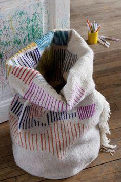 Panier XL Wool fabrique  | LES PETITS BOHEMES . Large bag