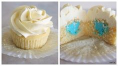 Vanilla Gender Reveal Cupcakes