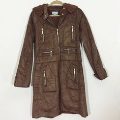 "Vintage 1980s Coat vintage 1980s coat with hoodie || size l || bust - 40"" || waist - 38"" || length - 36"" || Vintage Jackets & Coats"