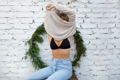 Modern soft bra with minimal design and fine trimming. Manufactured with care from high quality cotton, for your comfort. Soft Bra, Nalu, Minimal Design, Underwear, Turtle Neck, Lingerie, Crop Tops, Sweaters, Cotton