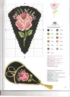 Cross-stitch Rose Scissors Case pattern...    Gallery.ru / Фото #59 - Kanavice Foral Elegance - tymannost