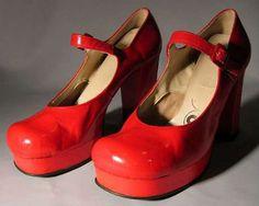 Rare Biba vintage platform Mary Janes
