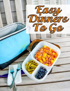 Easy Dinners To Go with Easy Lunchboxes