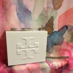 Tory Burch Lucite Purse Authentic. Never used. Tory Burch Bags