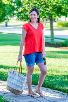 Shorts are tricky once you're past a certain age, but in some regions of the country they're pretty much a necessity. Even though I love to wear jeans all year round, there are plenty of times during the summer when it's just too hot, plus I'm not a huge fan of dresses so shorts are a must for me. I'm sure many of you are in the same boat so I've rounded up some of the best shorts for moms that are out there right now.