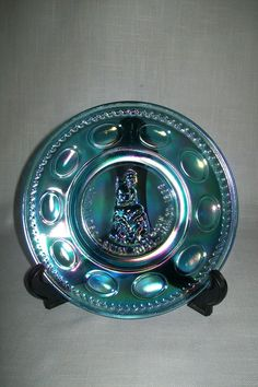 Wheaton Blue Commemorative Plate Besty Ross #1565