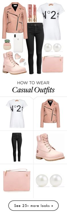 """Casual Day Out"" by jessica-berry101 on Polyvore featuring N°21, A.L.C., Karen Walker, Timberland, Kenneth Jay Lane, Too Faced Cosmetics and Ankit"