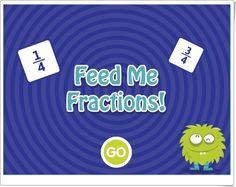 """""""¡Dame de comer fracciones!"""" (Juego de suma de fracciones para completar la unidad) Sumo, Fractions, Maths Area, Math Games, Teaching Resources, Unity"""