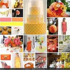 Image Search Results for yellow and coral wedding