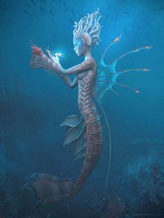"Carribean Mermaid 3d by Gilberto Magno based on Tony Di Terlizzi's artwork from ""Arthur Spiderwick's field guide"""