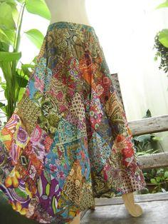 Floral Print Thai Soft Cotton Patchwork Boho by fantasyclothes, $46.00
