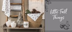 Clayre & Eef webshop Ladder Decor, Home Accessories, Textiles, Fall, Home Decor, Autumn, Decoration Home, Fall Season, Room Decor