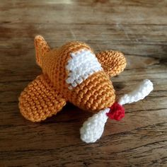 Ravelry: Amigurumi plane / airplane with propeller pattern by WithLoveFeli Crochet 101, Learn To Crochet, Free Crochet, Crochet Baby Mobiles, Crochet Mobile, Knitting Patterns, Crochet Patterns, Little Giraffe, Baby On The Way