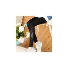 Lace Panel Leggings ($12) ❤ liked on Polyvore featuring pants, leggings, women, beige pants, legging pants, lace panel leggings and beige leggings
