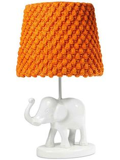 With a trusty pachyderm lighting the way, those spelling words are less apt to be forgotten. A crocheted shade adds cozy texture, but a simpler shade would look terrific as well. Elephant Table Lamp, $59, and Bubble Knit Lampshade, $59, thecompanystore.com