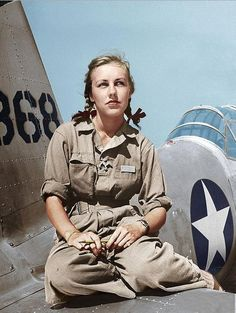 Shirley Slade, WWII WASP pilot of B-26 and B-39.  In 1942, the United States was faced with a severe shortage of pilots, so an experimental program to replace males with female pilots was created. The group of female pilots was called the Women Airforce Service Pilots — WASP for short. Shirley Slade was one of about 1,100 chosen. She was trained to fly the B-26 and B-39, and that got her put on the cover of Life magazine in 1943 at about 23 years old.