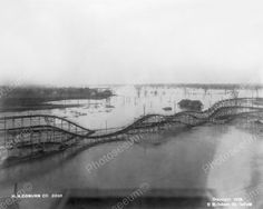 Roller Coaster Underwater Illinois 1900s 8x10 Reprint Of Old Photo