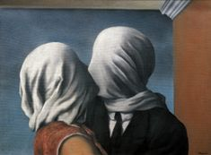 Fan account of Rene Magritte, a surrealist artist who helped influence pop, minimalist, and conceptual art Conceptual Art, Surreal Art, Rene Magritte Kunst, Rene Magritte The Lovers, Magritte Paintings, Art Parisien, Art Amour, Kiss Painting, The Lovers Painting