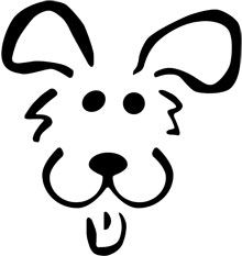 Here& a Dog pumpkin carving stencil to put you in a scary mood. This printable Halloween pumpkin carving stencil will put a fright into trick or treat visitors or smiles on your costume party guests. Dog Stencil, Animal Stencil, Pumpkin Stencil, Stencil Art, Stenciling, Dog Pumpkin, Happy Pumpkin, Pumpkin Faces, Pumpkin Carving Templates