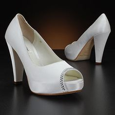Benjamin Adams Scarlett White and Ivory Wedding Shoes.