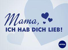 Ich hab dich lieb! #DankeMama #Mutter #Muttertag #Mom #Mothersday #Love #Zitate #NIVEA