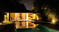 Villa Adagian is an exotic villa in the heart of Bali that entwines romance, family, culture and tradition into one perfect experience. Bali Holidays, Luxury Villa, Relax, Night Time, Exotic, Traditional, Mansions, House Styles, Villas