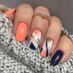 opi nail polish [TOP NAILS] 26 Best Nails for Nail Inspiration - Fav Nail Art opi nail polish Stylish Nails, Trendy Nails, Cute Nails, Hair And Nails, My Nails, Manicure E Pedicure, Gel Nail Designs, Orange Nail Designs, Nagel Gel