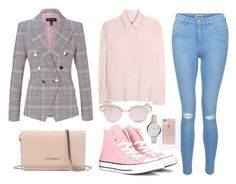 """""""Freestyle"""" by nicolesynth ❤ liked on Polyvore featuring ESCADA, New Look, Givenchy, Robert Friedman, Le Specs, Skinnydip, Converse and FOSSIL"""