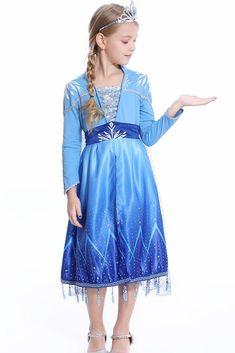 2019 Frozen 2 Elsa dress for girls kids toddlers Frozen 2 Elsa Dress, Princess Elsa Dress, Elsa Outfit, Dress Up Outfits, Rajputi Dress, Girls Formal Dresses, Fancy Costumes, Costume Dress, Beautiful Dresses