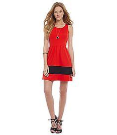 kensie Fit and Flare Ponte Dress #Dillards