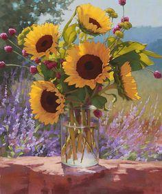 Sad Sunflower Canvas Print / Canvas Art by Joy Neasley