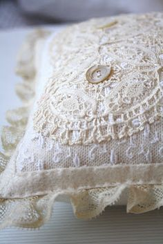 ring pillow for a vintage wedding
