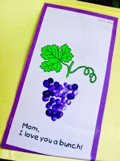 G is for grapes OR mother's day idea