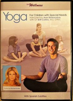 "Research shoes that yoga can help children with special needs learn skills needed for success in school. The ""Yoga for Children with Special Needs"" DVD teaches you how to use yoga with kiddos.plus find out how you can get the DVD for off! Pediatric Occupational Therapy, Pediatric Ot, School Ot, School Classroom, Cerebral Palsy Awareness, Therapy Activities, Therapy Ideas, Autism Sensory, Relaxing Yoga"