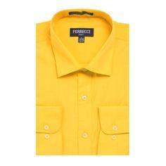 Ralph Lauren Men's Yellow Dress Shirt 100% Cotton Oxford (16-35 ...