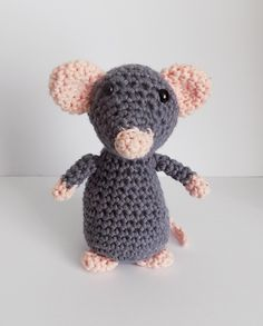 Little Grey Mouse By Karen Goss - Free Crochet Pattern - (ravelry)