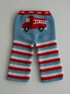 Firetruck longies. I need to have another baby boy so I can make these :-)