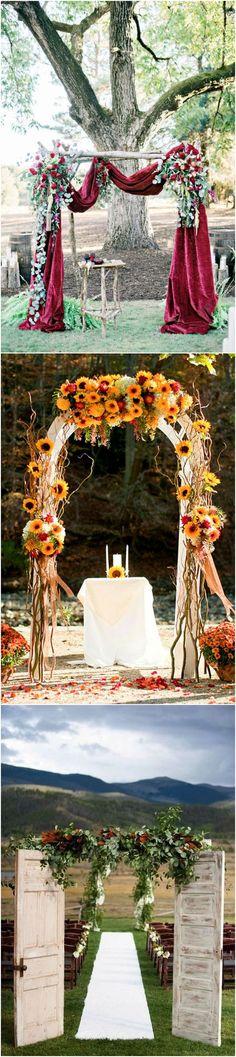 wedding arch decoration ideas for fall #weddingideas #weddingdecor #fallwedding #autumnwedding