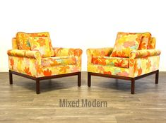 Mid Century Walnut Lounge Chairs - A Pair by mixedmodern1