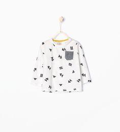 Geometric print T-shirt-T-shirts-Baby boy (3 months - 3 years)-KIDS | ZARA United States