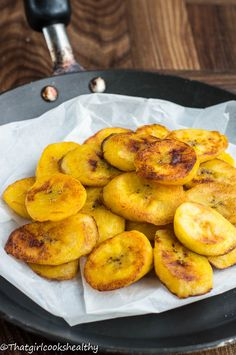 Oven baked plantains (healthier than frying)