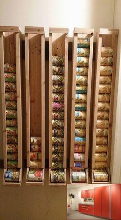 Garage Storage For Yakima Skybox and Pics of Gladiator Garage Organization Sale. #garagestorage #garagecabinetsdiy Diy Kitchen Storage, Pantry Storage, Diy Storage, Garage Storage, Storage Rack, Garage Shelf, Canning Jar Storage, Food Storage Rooms, Budget Storage