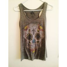 Sugar Skull Racerback Tank Size small! Urban Outfitters Tops Tank Tops