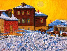 Бритов Ким Николаевич Oil On Canvas, Contemporary Art, Auction, Landscape, Artwork, Winter, Snow, Paintings, Artists