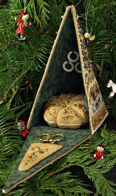 The Victoria Sampler - Christmas Gazebo  ... Love it!