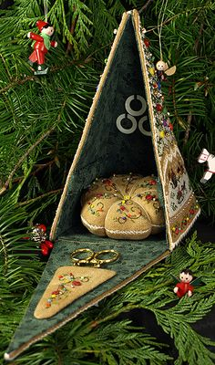 The Victoria Sampler - Christmas Gazebo  ... Love it!