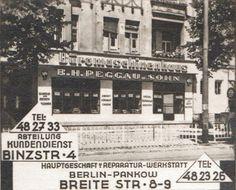 Berlin-Pankow, Breite Straße, 1959(Altes Diapositiv fuer Kino-Werbung im Berliner Raum)