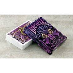 Royalty has always had a history of donning the color purple and now it's officially in a deck of playing cards. The Viola Playing Cards is coated in beautiful shades of purple. It also displays waves and curves that are similar to the ones in the famous Bicycle Deck, Bicycle Cards, Bicycle Playing Cards, Indiana, Unique Playing Cards, Arte Steampunk, Cool Deck, Custom Decks, Card Companies