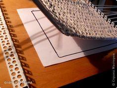 Мастер-класс Поделка изделие Плетение СТАНОК ДЛЯ ПЛЕТЕНИЯ КВАДРАТНОГО ДНА Трубочки бумажные фото 9