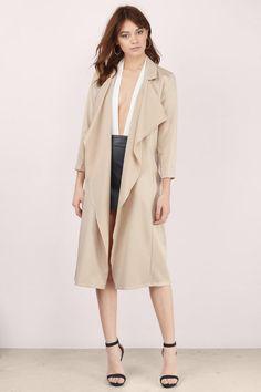 Let Loose Longline Draped Jacket at Tobi.com  | #SHOPTobi | New Arrivals | January 16'